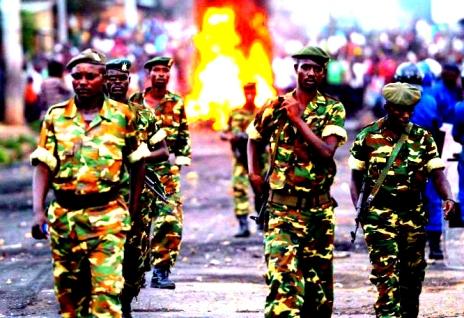 Burundi l_armée dans la crise
