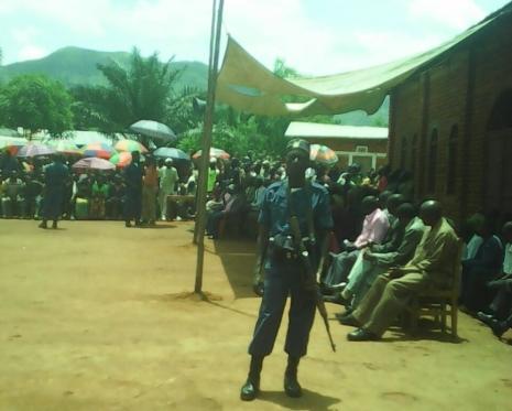 patrouilles à Rukambasi