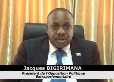 Jacques Bigirimana, président de l'opposition extraparlementaire au Burundi