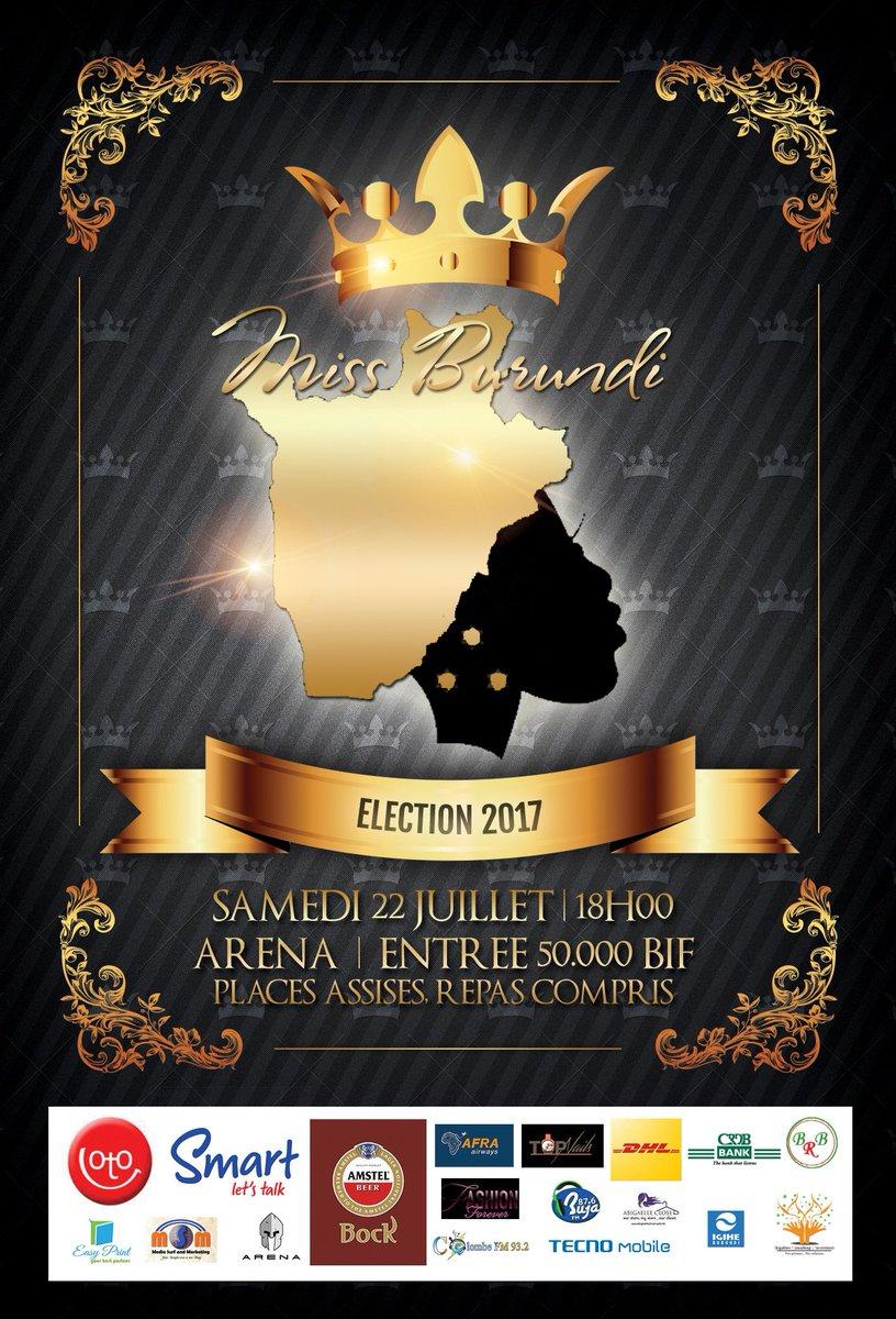 La finale de l'élection Miss Burundi 2017 aura lieu samedi