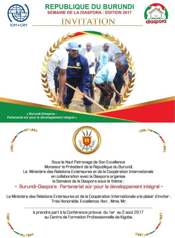 Invitation à la semaine de la Diaspora